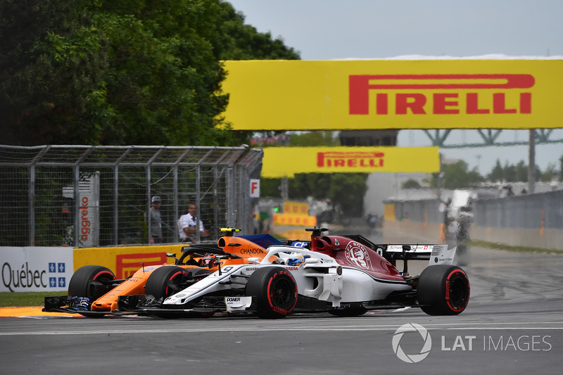 Marcus Ericsson, Sauber C37 e Stoffel Vandoorne, McLaren MCL33