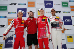 Podium: Race winner Marcus Armstrong, PREMA Theodore Racing Dallara F317 - Mercedes-Benz, second place Ralf Aron, PREMA Theodore Racing Dallara F317 - Mercedes-Benz, third place Jehan Daruvala, Carlin Dallara F317 - Volkswagen