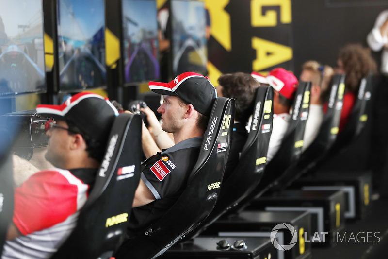 Maro Engel, Venturi Formula E Team, at the e-Race