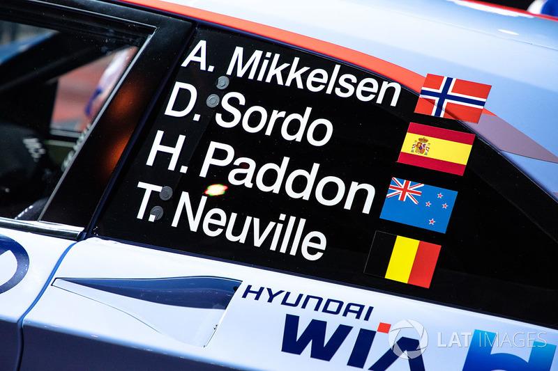 Hyundai i20 WRC, Hyundai Motorsport of Andreas Mikkelsen, Dani Sordo, Hayden Paddon, Thierry Neuville