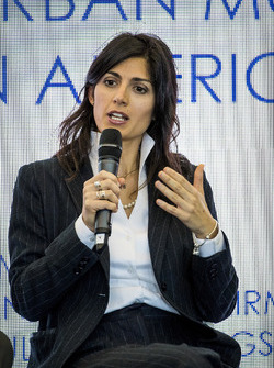Virginia Elena Raggi, Mayor of Rome,in the FIA Smart Cities conference