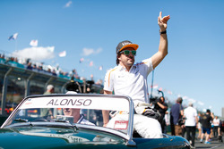 Fernando Alonso, McLaren, in the drivers parade