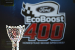 The Monster Energy NASCAR Cup Series champion trophy