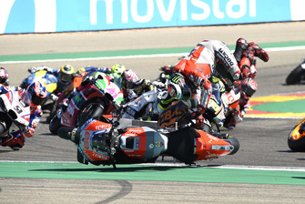 Jorge Lorenzo, Ducati Team crash kort na de start