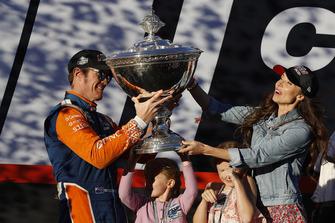 Scott Dixon, Chip Ganassi Racing Honda con la moglie Emma e le figlie Tilly e Poppy