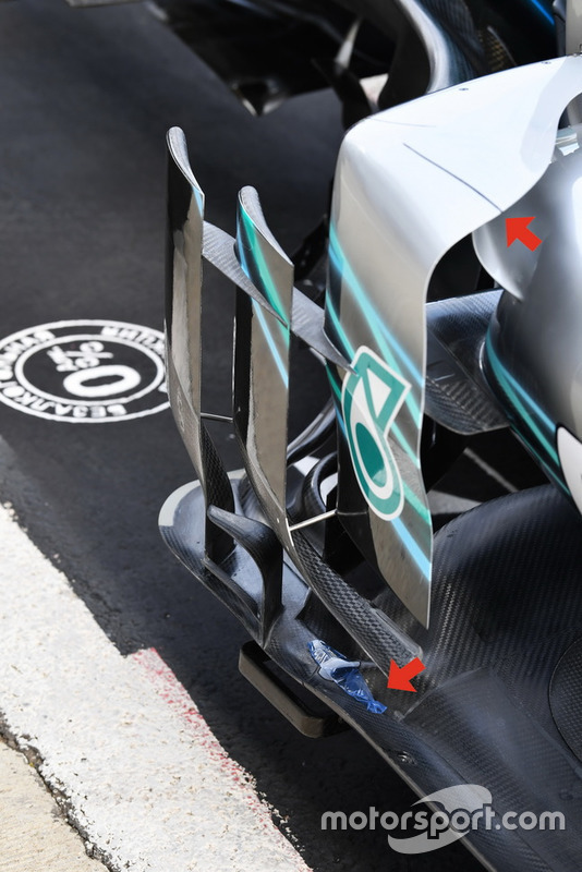 Mercedes-AMG F1 W09 barge board