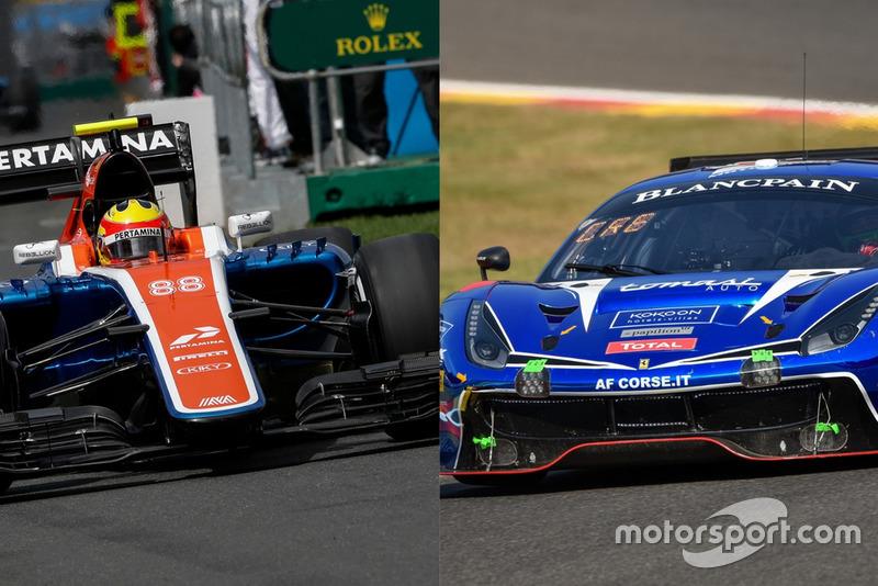 Manor Racing MRT05 vs T2 Motorsports Ferrari 488 GT3