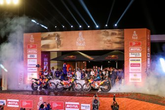 Podium : Red Bull KTM Factory Racing KTM: Toby Price, Matthias Walkner, Sam Sunderland