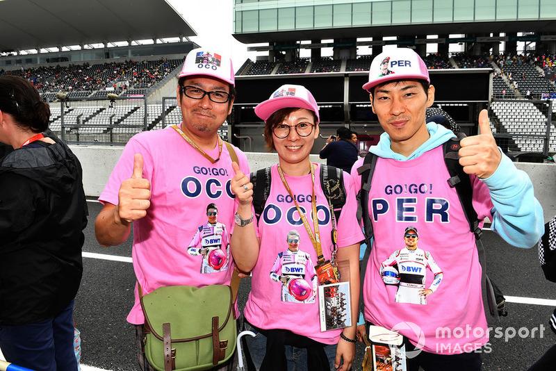 Esteban Ocon, Racing Point Force India F1 Team taraftarları