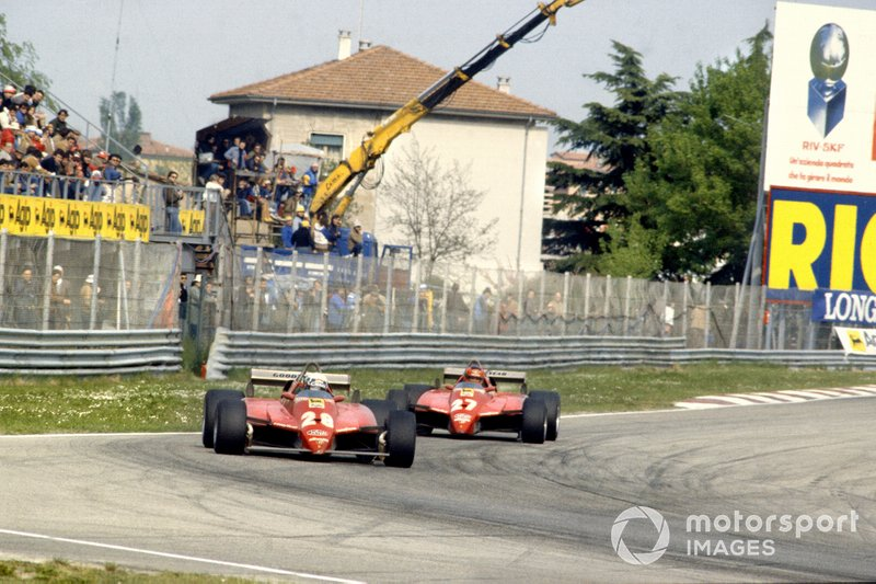 Not the way it should have been, but the way it was. Pironi leads Villeneuve, Imola '82.
