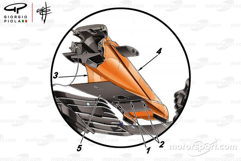 McLaren MCL33 voorvleugel Spanje