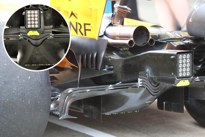 Comparación del difusor trasero del McLaren MCL33
