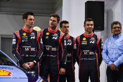 Thierry Neuville, Andreas Mikkelsen, Hayden Paddon, Dani Sordo and Michel Nandan