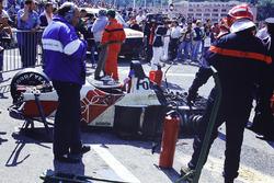 Unfallauto von Alex Caffi, Footwork FA12 Porsche