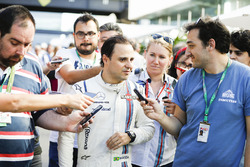 Felipe Massa, Williams, talks after his final home grand prix