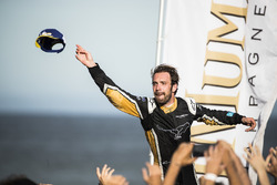 Jean-Eric Vergne, Techeetah, celebrates on the podium