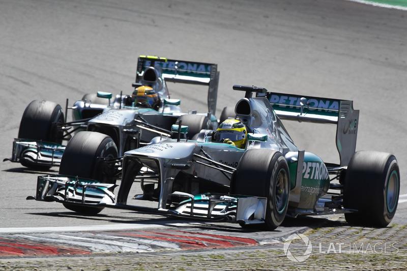 Nico Rosberg y Lewis Hamilton, Mercedes F1 W04 (2013)