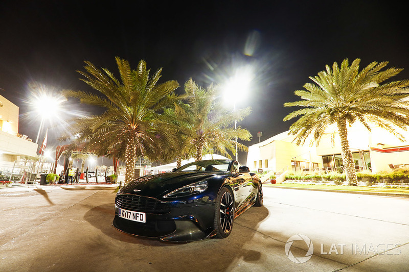 Aston Martin road car in the paddock
