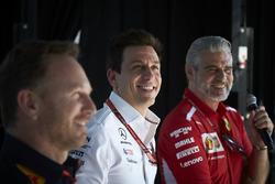 Керівник Red Bull Racing Крістіан Хорнер, керівник Mercedes AMG Тото Вольфф, керівник команд Ferrari Мауріціо Аррівабене