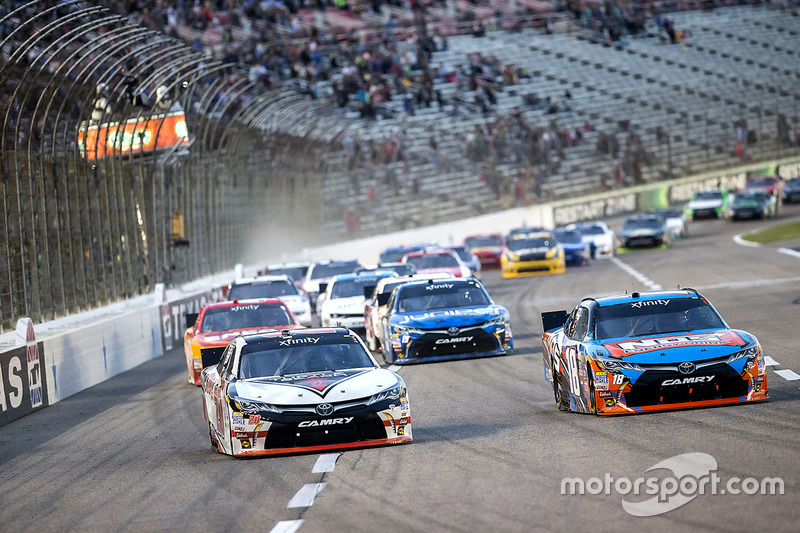 Erik Jones, Joe Gibbs Racing Toyota and Kyle Busch, Joe Gibbs Racing Toyota