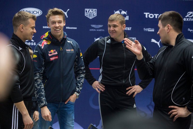 Daniil Kvyat, Red Bull Racing with Alexey Zaytsev, Alexey Pushkarev and Alexander Kasyanov