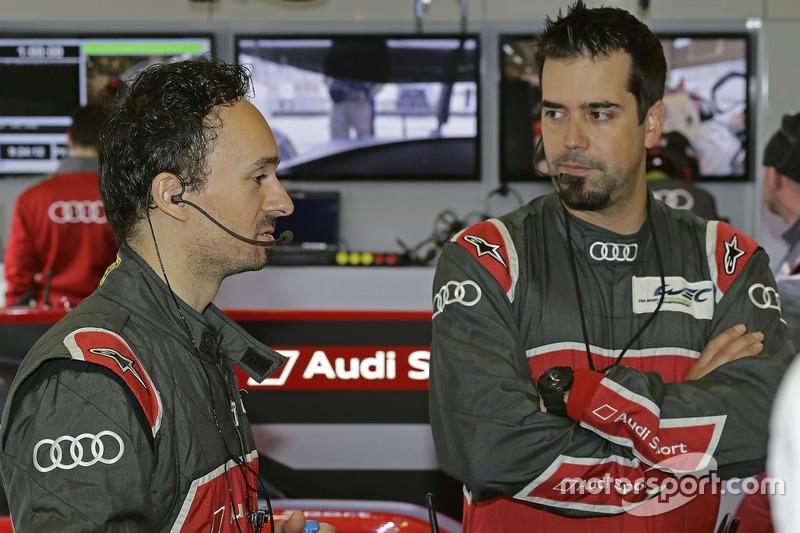 Erik Schuivens, race engineer, Justin Taylor, LMP1 race engineer, Audi Sport Team Joest