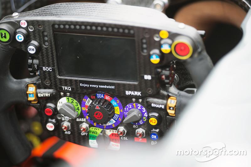 Haas VF-16 steering wheel