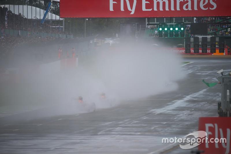 Lewis Hamilton, Mercedes AMG F1 W07 alla partenza della gara