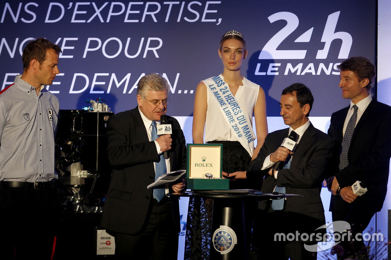 Conferencia de prensa de la ACO: Alex Wurz; Grand Marshal, Jacques Nioclet; Pierre Fillon, Presidente de la ACO