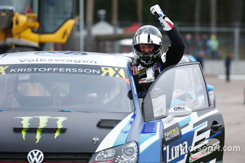 Race winner Johan Kristoffersson, PSRX Volkswagen Sweden, VW Polo GTi