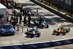 Sébastien Buemi, Renault e.Dams, ve Daniel Abt, ABT Schaeffler Audi Sport