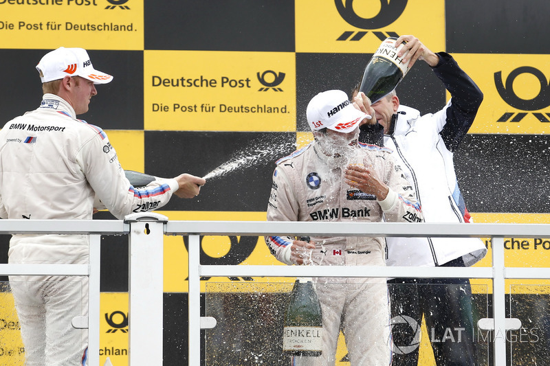 Podium: Maxime Martin, BMW Team RBM, BMW M4 DTM, Bruno Spengler, BMW Team RBM, BMW M4 DTM, Bart Mampaey, Teamchef BMW Team RBM