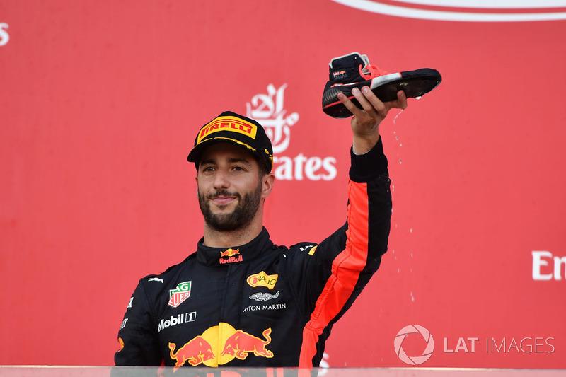 Daniel Ricciardo, Red Bull Racing shoey