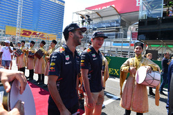 Daniel Ricciardo, Red Bull Racing and Max Verstappen, Red Bull Racing on the drivers parade