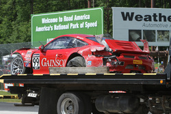 #99 Gainsco/Bob Stallings Racing Porsche 911 GT3 R: Jon Fogarty, crashed car
