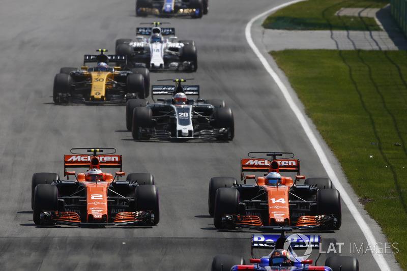 Данііл Квят, Scuderia Toro Rosso STR12, Стоффель Вандорн, Фернандо Алонсо, McLaren MCL32, Кевін Магнуссен, Haas F1 Team VF-17