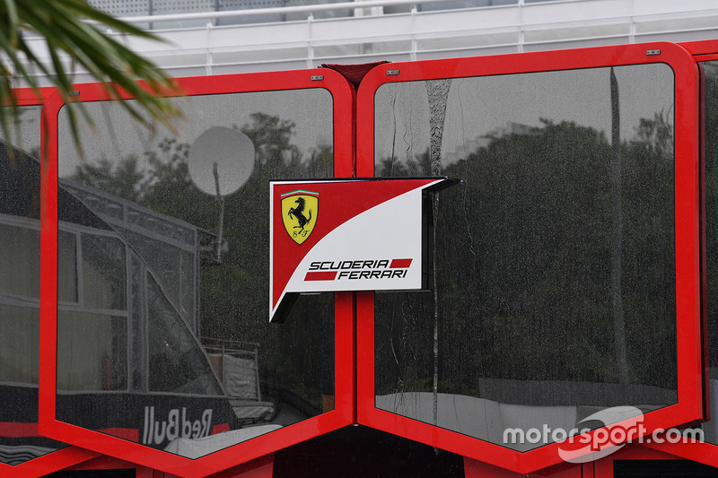 Ferrari logo and motorhome