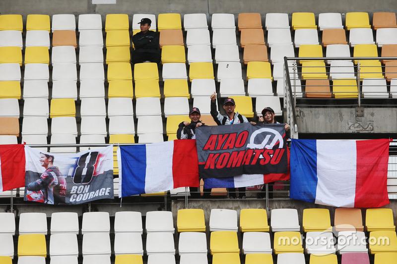 Fans von Romain Grosjean