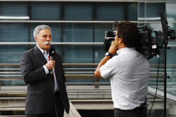 Chase Carey, CEO of Formula One Group, gives an interview