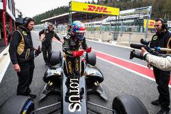 Pietro Fittipaldi, Lotus, auteur de la pole position