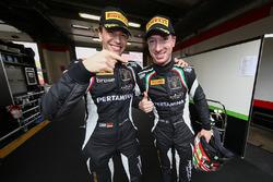 Polesitters Christian Engelhart, Mirko Bortolotti, GRT Grasser Racing Team