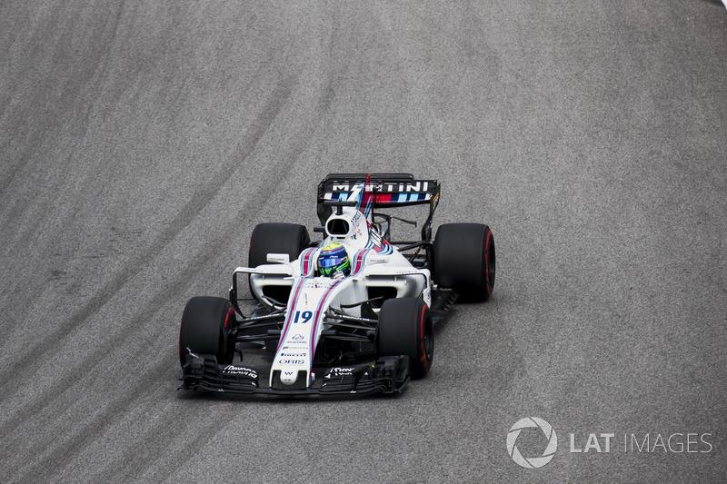 Felipe Massa foi ao pódio de Suzuka duas vezes, com dois segundos lugares, largou da pole uma vez e abandonou duas vezes