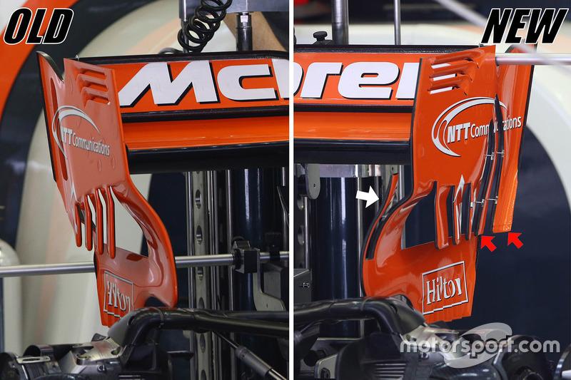 مقارنة بين الجناح الخلفي  لسيارة مكلارين