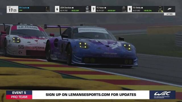 Le Mans Esports Series – Pro Teams Round 5 Race 2 Highlights