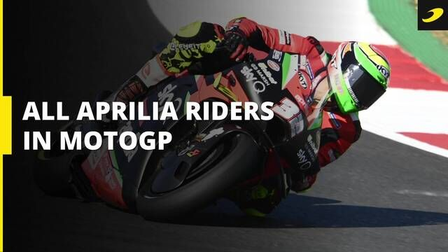 All Aprilia's riders from their return to MotoGP
