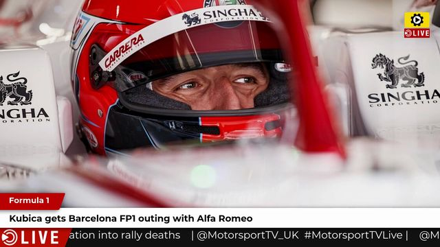 F1: Kubica gets Barcelona FP1 outing with Alfa Romeo