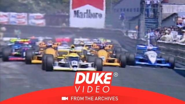 Carnage at the start of 1989 F3000 Pau Grand Prix