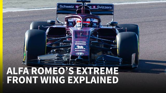 'The strangest 2019 front wing we've seen so far' - Alfa Romeo F1 technical analysis