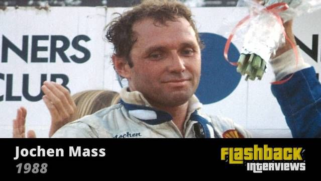 1988 WSC Fuji 1000 Kms, interview with Jochen Mass