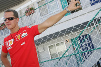 Schumacher not happy with Ferrari third
